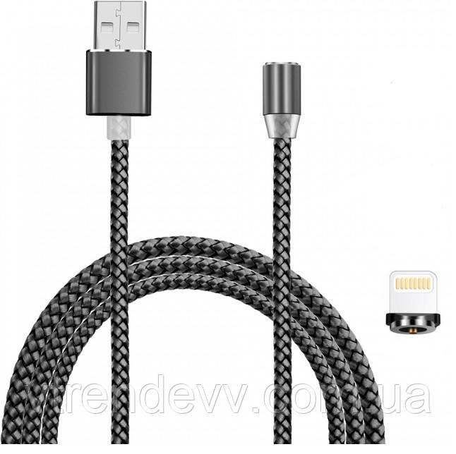 Магнитный кабель Fast Chager для зарядки Lightning-USB 360 круглый
