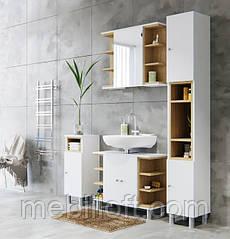 Мебель для ванной Lotos / Лотос Комплект Белая платина / дуб каменный