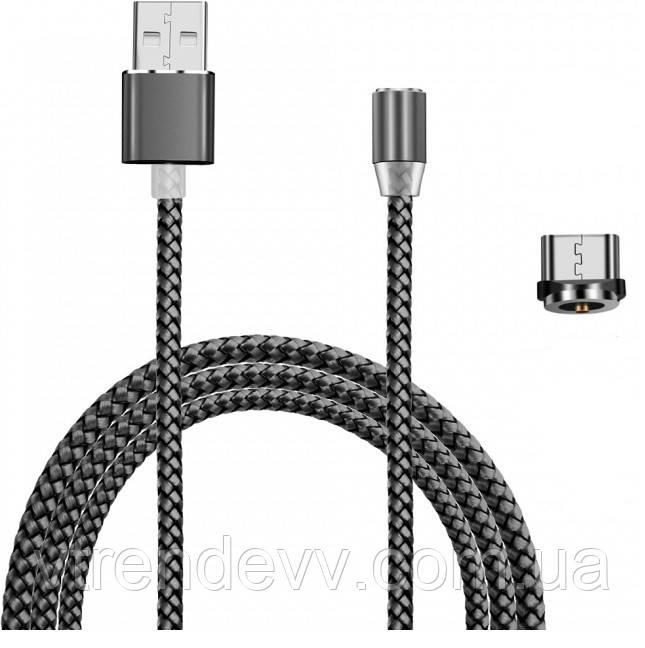 Магнитный кабель Fast Chager для зарядки Micro-USB 360 круглый