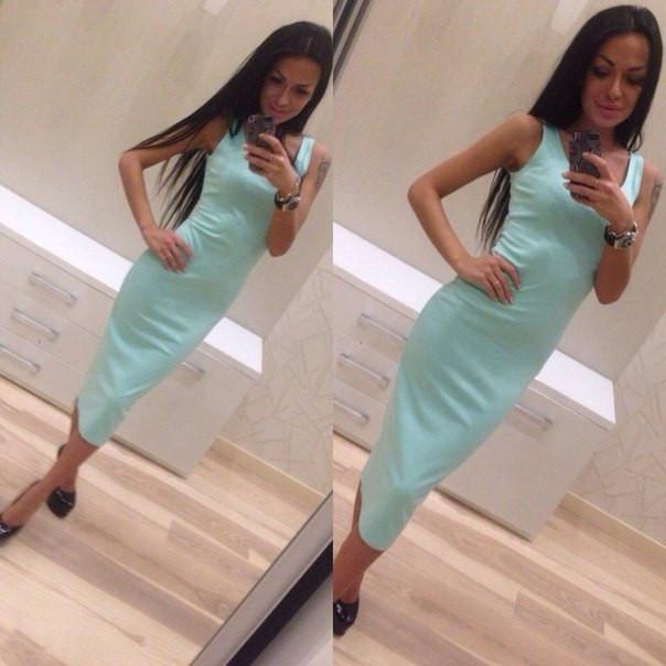 Купить платье ниже колен