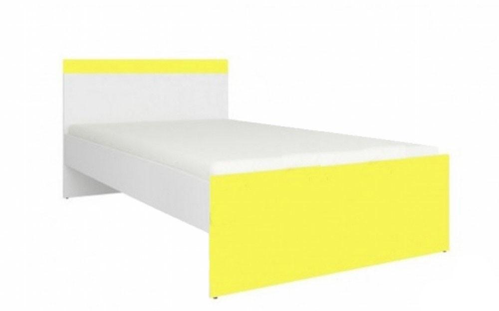 """Ліжко 90*200 """"Мобі"""" від Гербор (німфея альба / уніколор жовтий)"""