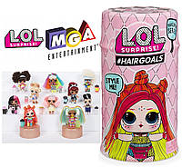 L.O.L. Surprise! S5 W2 Кукла Лол сюрприз в капсуле с волосами Hairgoals Makeover 15 Surprises, оригинал MGA