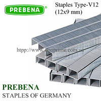 Скоба PREBENA тип-V 12х9 мм для пневмостеплера