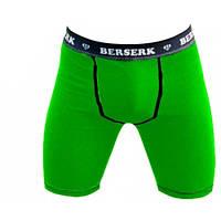 Компрессионные мужские шорты для спорта с ракушкой Berserk Sport зеленый