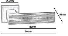 Ручки EMPORIO ITALIANO ONDE матовий хром, фото 2