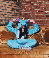 Кигуруми голубой единорог (пижама взрослая) kmy0017