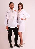 Парні вишиванки.Сукня жіноча + сорочка чоловіча МВ-06пс