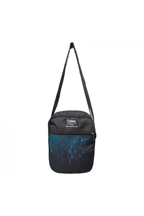 Черная сумка на плечо мессенджер
