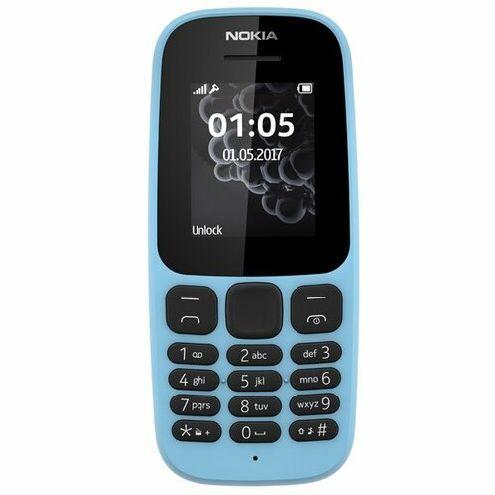 Кнопочный мобильный телефон Nokia 105 2017 голубой