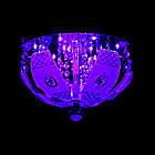 """Люстра """"торт"""" на 3 лампочки с LED подсветкой на пульте управления СветМира VL-2235/300/3, фото 3"""