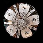"""Люстра """"торт"""" на 3 лампочки с LED подсветкой на пульте управления СветМира VL-2235/300/3, фото 5"""