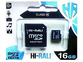 Карта памяті micro SDCL 16GB class 10 (з адаптером) ТМHi-Rali
