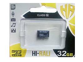 Карта памяті micro SDHC 32GB class 10 (без адаптера) ТМHi-Rali