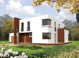 Мы разработали проект частного жилого дома в Киевской области.  Общая площадь 300м2.