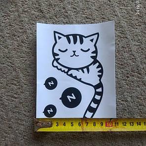 """Наклейка на стену, виниловые наклейки, украшения стены наклейки """"спящий Кот на выключатель, розетки"""" (13*9см), фото 2"""