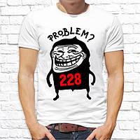 """Мужская футболка Push IT с принтом  """"Problem?"""""""