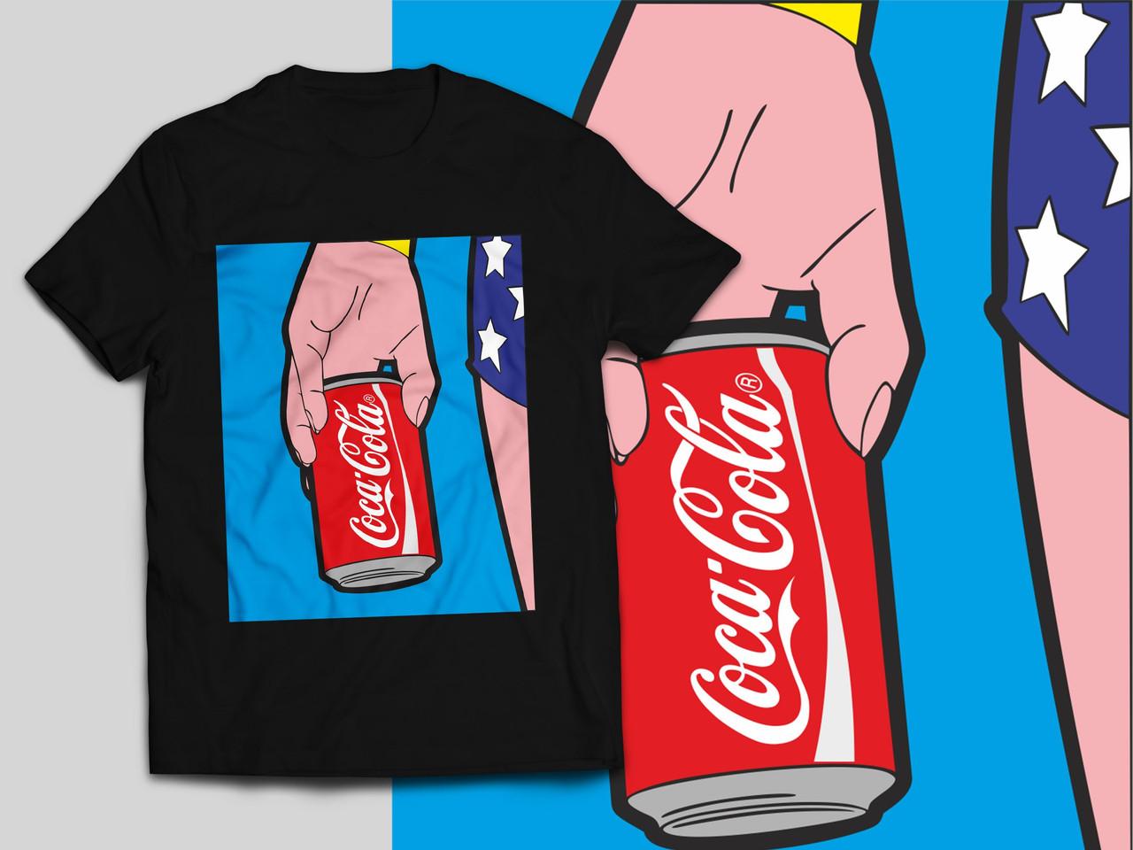 """Футболка с принтом """"Кока-кола"""""""