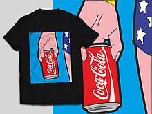 """Футболка з принтом """"Кока-кола"""""""