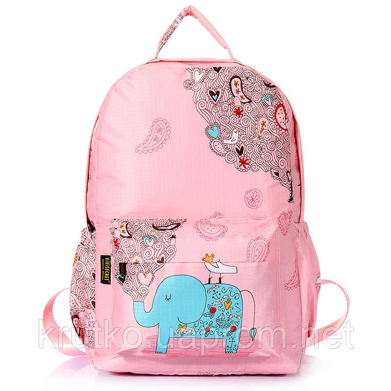 Школьный рюкзак для девочки Слон, розовый ViViSECRET