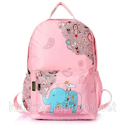 Школьный рюкзак для девочки Слон, розовый ViViSECRET, фото 2