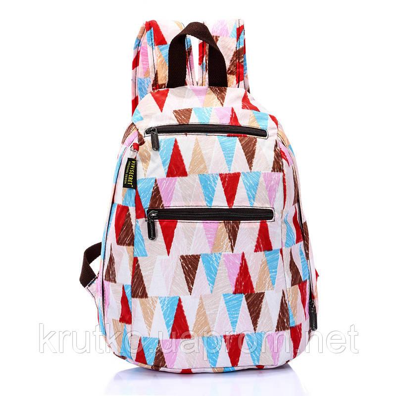 Школьный рюкзак для девочки Треугольники ViViSECRET