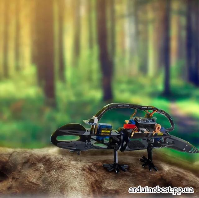 Arduino робот ящерица