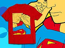 """Футболка з принтом """"Супермен. Прочищення."""""""