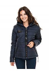 Женская короткая куртка с горизонтальной стежкой Дана Разные цвета