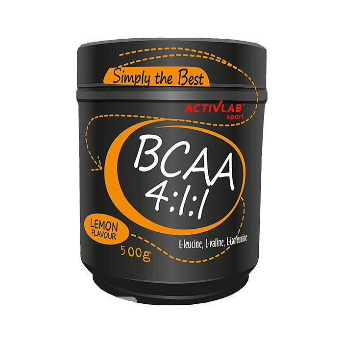 БЦАА Activlab BCAA 4:1:1 (500 г) активлаб  lemon