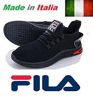 Мужские черные кроссовки Fila MindZero Black. Италия.