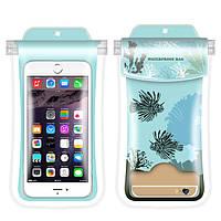 Водонепроникний чохол для смартфона Coral Fish синій
