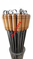 Набор шампуров с деревянной ручкой 6шт + Мангал