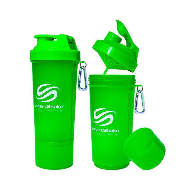 Шейкер спортивный SmartShake Slim NEON Green  (500 мл)