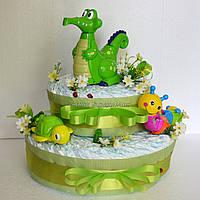 Торт из памперсов (зеленый)