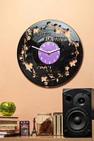 Часы настенные виниловые The most beautiful mom Моя мама красивее всех