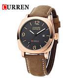 """Мужские наручные  кварцевые часы в стиле """"милитари"""" кожа . relogio 3 3atm 8158, фото 2"""