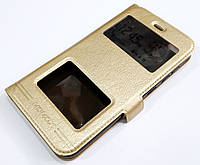 Чохол книжка з віконцями momax для Xiaomi Redmi Go золотий
