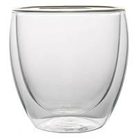 Стеклянный стакан с двойными стенками, 200 мл