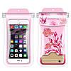 Водонепроницаемый чехол для смартфона Seaweed Gatherer розовый