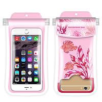 Водонепроницаемый чехол для смартфона Seaweed Gatherer розовый, фото 1