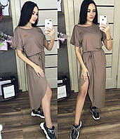 Летнее платье с юбкой на запах / вискоза / Украина 1-540