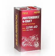 Високотехнологічнамоторнаолива MANNOL 7812 Motorbike 4-Takt API SL  4л.