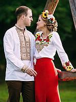 Парні вишиванки.Сорочка жіноча + сорочка чоловіча МВ-52п, фото 1