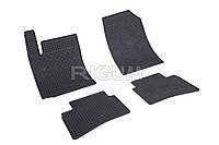 Коврики резиновые в салон Hyundai Accent 17- RIGUM Комплект из 4-х ковриков Черный в салон