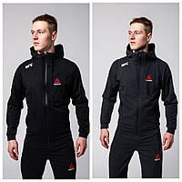 Спортивный костюм Reebok черный/серый