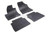 Коврики резиновые в салон Hyundai Santa Fe 06- RIGUM Комплект из 4-х ковриков Черный в салон