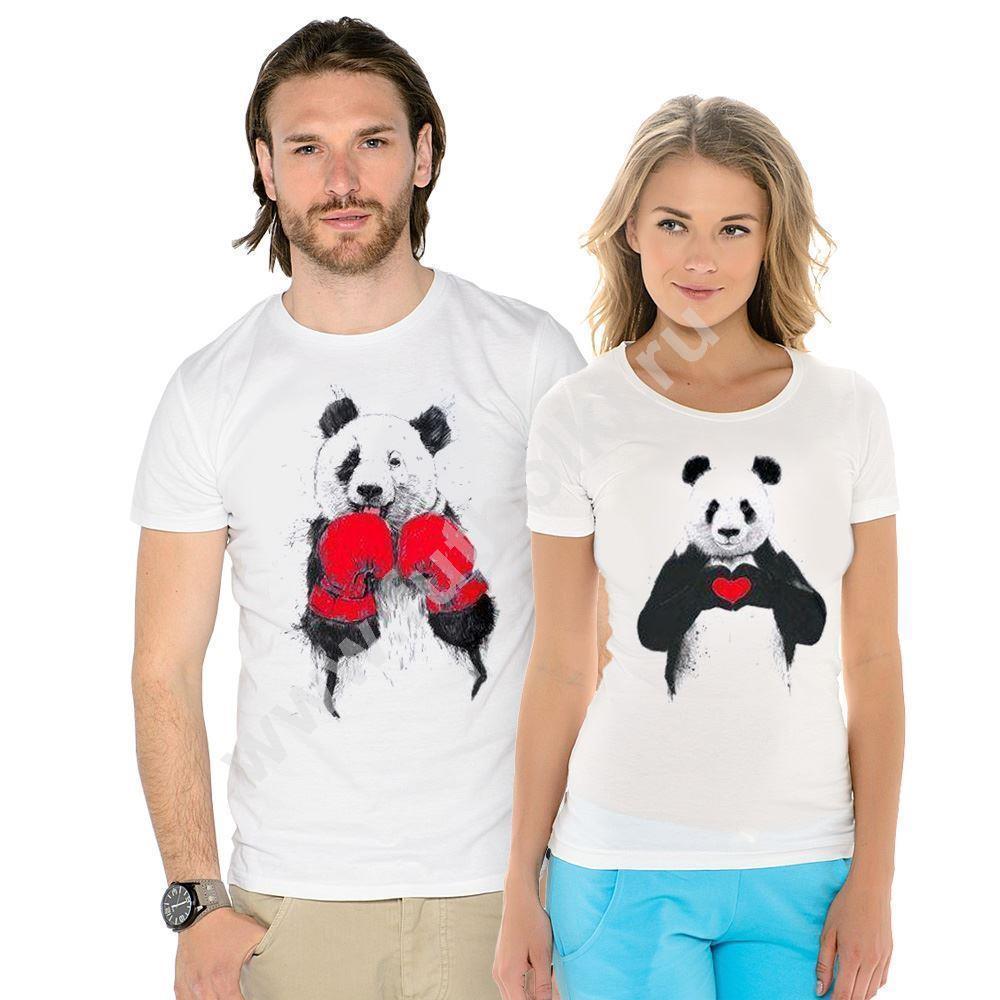 Парные футболки Пандочки