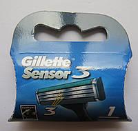 Картриджи Gillette Sensor 3 Оригинал 1 шт в упаковке  Польша, фото 1