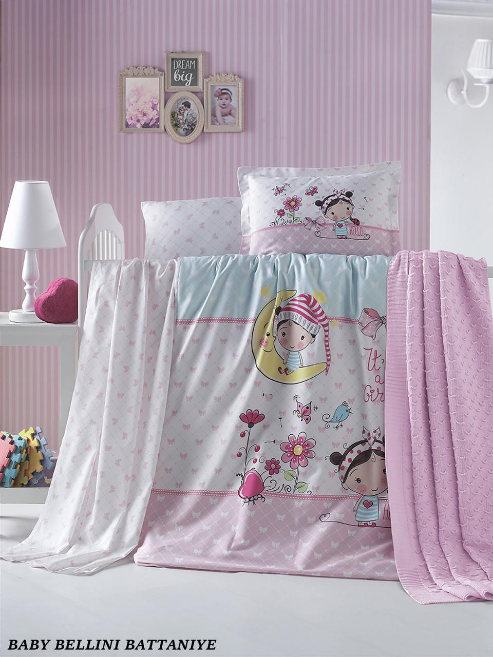 """Детский постельный набор + плед """"Bellini""""  LaRomano"""