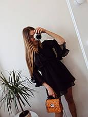 Женский шифоновый сарафан с рюшами  , фото 3